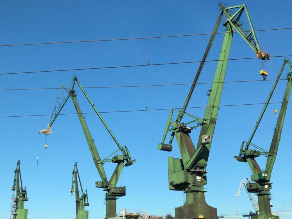 cone shipyard cranes Gdansk